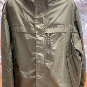 Eddie Bauer Rain Windbreaker Light Jacket Green 3X